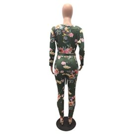 Womens-Sexy-Floral-Deep-V-Neck-Long-Sleeve-Bodycon-Long-Pants-Jumpsuit-Rompers-0-3