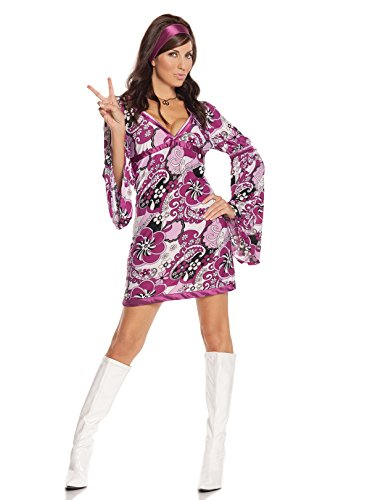 Women's Sexy Retro Hippie Cosplay Costume Set