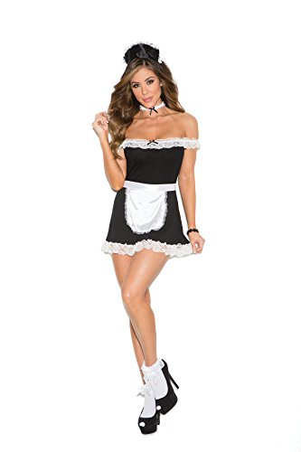 Women's Sexy Maid Off The Shoulder Dress Adult Role Play Costume
