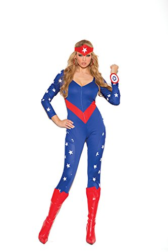 Women's Sexy Patriotic Hero Adult Role Play Costume
