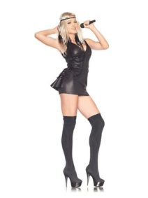 Womens-Trash-Bag-Pop-Star-Sexy-Costume-Medium-0
