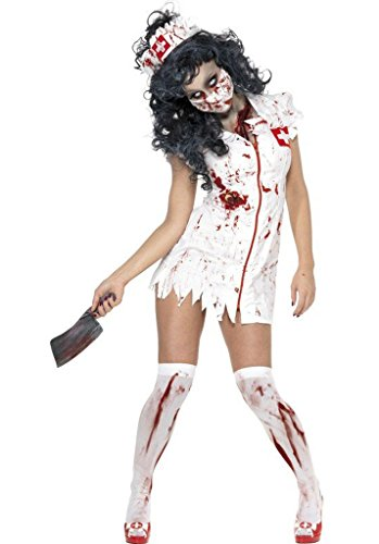 Wonder Lingerie Plus Women's Zombie Nurse Blood Splattered Halloween Party Costume