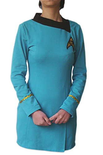 XOMO Star Trek TOS Cosplay Costume Dress Skant Female Blue Uniform