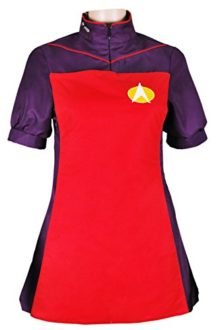 XOMO-Star-Trek-Uniform-TNG-The-Next-Generation-Costume-Red-Skant-Dress-0