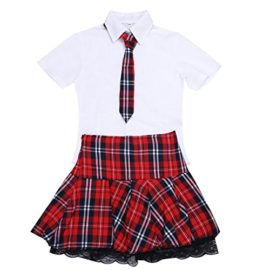 YiZYiF-Sexy-School-Girl-Uniform-Crop-Top-with-Pleated-Skirt-Role-Cosplay-Costume-0-2