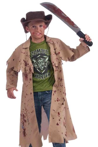 Zombie Hunter Complete Costume Kit, Child's Medium