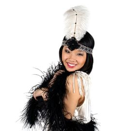 Zucker-Feather-Products-Ivory-and-Black-Flapper-Ostrich-Headband-with-Boa-0