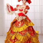 Zukzi-Womens-Deluxe-Victorian-Parties-Costume-Fish-Scales-Style-Dresses-0-0