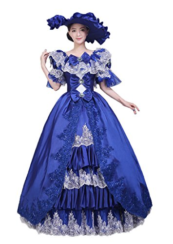Zukzi Women's Royal Blue Evening Prom Dress Gown Party Dresses