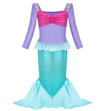 iiniim-Girls-Princess-Party-Halloween-Mermaid-Costume-Dress-Long-Sleeve-Shiny-Outfits-0