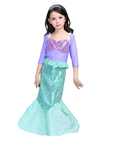 sophiashopping Girls Kids Little Mermaid Princess Party Dress Costume