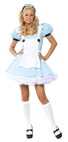3 Piece Alice in Wonderland Light Blue Dress Costume