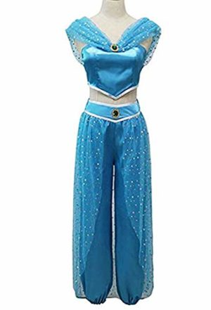 Aladdin-Jasmine-Princess-Jasmine-Adult-Children-Halloween-Party-Cosplay-Costume-Set-0