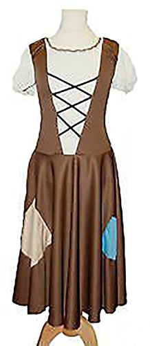 CL-COSTUMES-Fancy-Dress-Panto-Cinderella-Rags-Brown-Patched-Dress-Ladies-Costume-from-Sizes-10-42-0