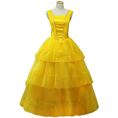 CLLMKL Women's Dress for Beauty and The Beast Princess Belle Cosplay