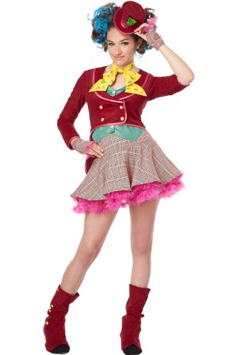 California Costumes Mad As a Hatter Tween Costume