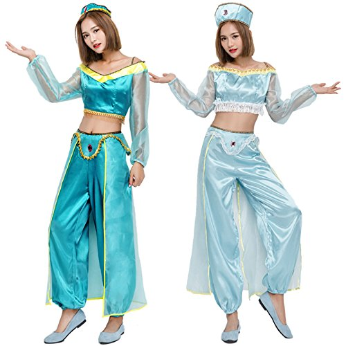 Costume Play COSPLAY Costumer Halloween Dress Lamp of Aladdin Nautch Mother Dressing