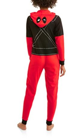 Deadpool-Marvel-Womens-Cozy-Fleece-Union-Suit-Hooded-Pajamas-0-0