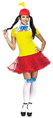 Faerynicethings-Adult-Alice-in-Wonderland-Female-Tweedle-Dee-Or-Dum-Costume-2-Sizes-0