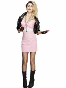 Fest-Threads-5-PC-80s-Rocker-Pop-Star-Diva-Pink-Dress-Black-Jacket-wAccessories-Costume-0