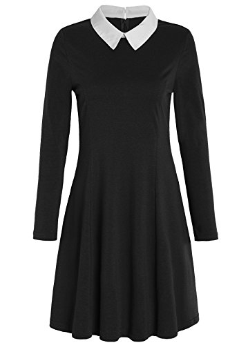 JustinCostume Women's Peter Pan Collar Dress Halloween Costume