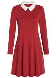 JustinCostume-Womens-Peter-Pan-Collar-Dress-Halloween-Costume-XS-Red-0