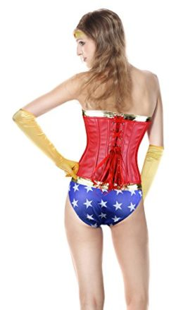 Killreal-Womens-4-Pieces-Deluxe-Wonder-Adult-Halloween-Cosplay-Costume-Corset-0-1
