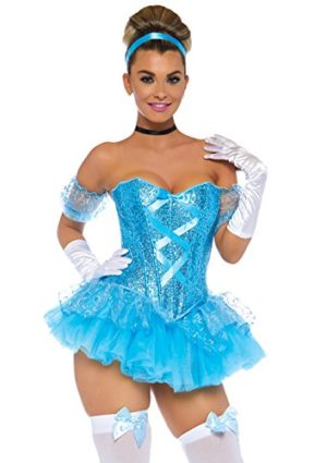 Leg-Avenue-5-Piece-Cinderella-Sequin-Corset-Tutu-Skirt-Arm-Puffs-Choker-Headband-0