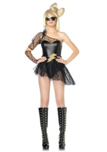 Leg-Avenue-Womens-3-Piece-Lightening-Rocker-Bodysuit-Skirt-Gauntlet-Gloves-0
