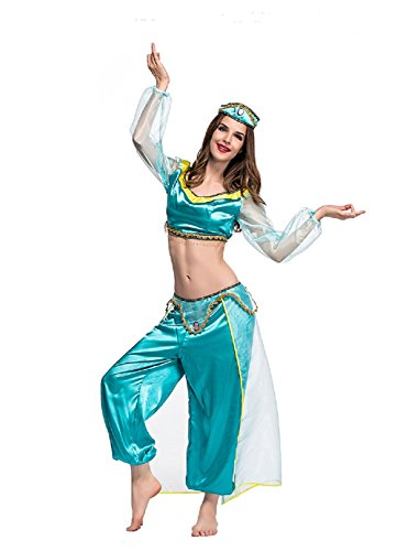 Mocona Lamp Of Aladdin Cosplay Jasmine Princess Costume