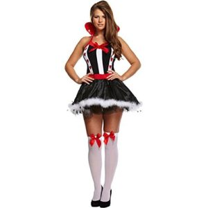 Queen-Of-Hearts-Fancy-Dress-Costume-BlackWhiteRed-0
