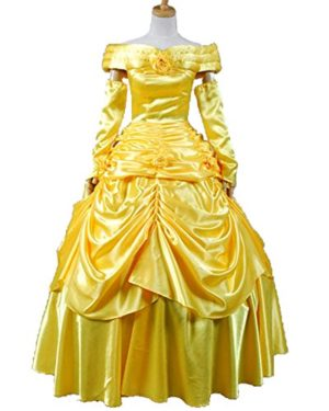 Sidnor-Beauty-and-the-Beast-Princess-Belle-Evening-Gown-Dress-Cosplay-Costume-0