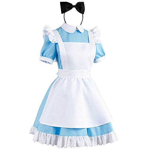 Sidnor-Cosplay-Alice-in-Wonderland-Blue-Maid-Dress-Costume-Outfit-Suit-Apron-New-Version-0-0