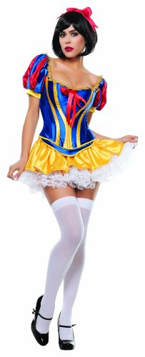 Starline-Womens-Fairy-Tale-Snow-White-Sexy-3-Piece-Costume-Corset-Set-0
