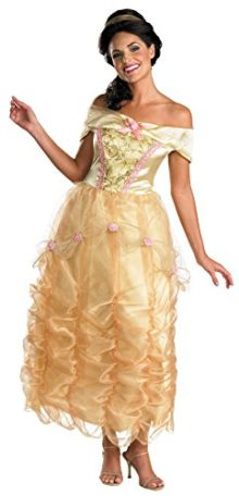 UHC-Womens-Disney-Princess-Belle-Beauty-Beast-Deluxe-Halloween-Costume-0