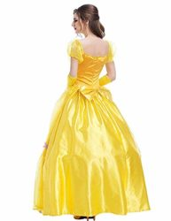 WELVT-Women-Adult-Size-Belle-Costume-Cosplay-Halloween-Party-Show-Dress-with-Gloves-0-2