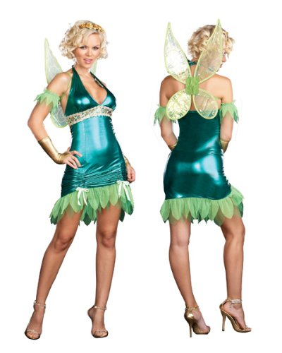 Womans Sexy Lil Green Fairy Costume
