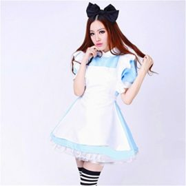 Womens-Blue-Anime-Costume-Maid-Clothing-For-Alice-In-Wonderland-Fans-0-0