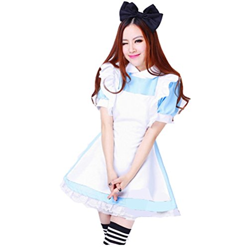 Women's Blue Anime Costume Maid Clothing For Alice In Wonderland Fans