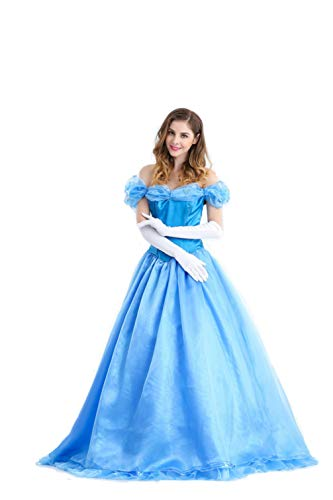Women's Halloween Cinderella Princess Dress Cosplay Party Costume Performance Dresses