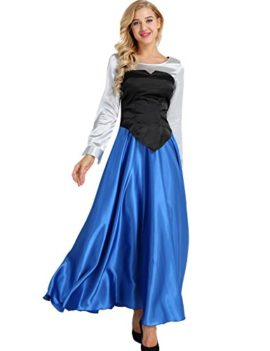YiZYiF-Adult-Womens-3-Pieces-Little-Mermaid-Ariel-Cosplay-Costume-Princess-Party-Dress-0-0