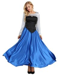YiZYiF-Adult-Womens-3-Pieces-Little-Mermaid-Ariel-Cosplay-Costume-Princess-Party-Dress-0