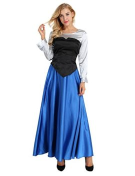 YiZYiF-Adult-Womens-3-Pieces-Little-Mermaid-Ariel-Cosplay-Costume-Princess-Party-Dress-0-2