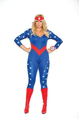 Zabeanco-Womans-Patriotic-American-Super-Hero-Role-Playing-Costume-0