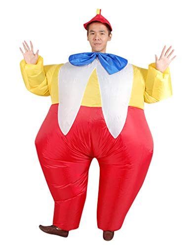 ACE SHOCK Inflatable Clown Costume, Unisex Adults Funny Halloween Cosplay Bodysuit Blow up Costume