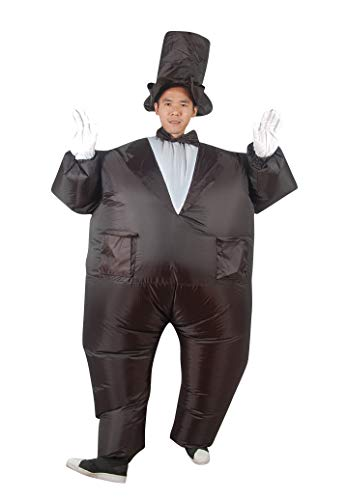 ACE SHOCK Inflatable Magician Costume, Unisex Adults Funny Halloween Cosplay Bodysuit Blow up Costume