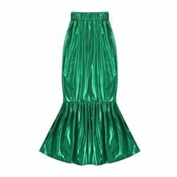 ACSUSS-Girls-Halloween-Mermaid-Cosplay-Costumes-Shiny-Long-Sleeve-T-shirtDress-Outfits-0-0