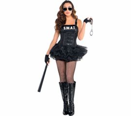 AMSCAN-Hot-SWAT-Halloween-Costume-for-Women-Medium-with-Included-Accessories-0