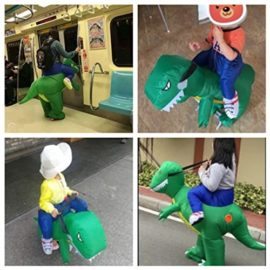 ANOTHERME-Dinosaur-Riding-T-REX-Inflatable-Fancy-Dress-Halloween-Party-Blow-Up-Costume-for-Adults-Child-0-0