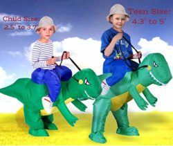 ANOTHERME-Dinosaur-Riding-T-REX-Inflatable-Fancy-Dress-Halloween-Party-Blow-Up-Costume-for-Adults-Child-0-3